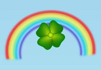 Clover And Rainbow - Free vector #145985