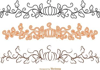 Thanksgiving Border Vector Pack - Free vector #146005