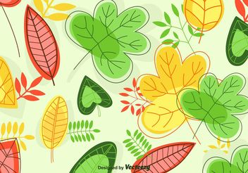 Leaves Background Vector - Free vector #146025