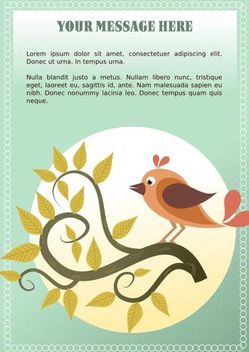 Vector Decorative Frame with Bird - vector gratuit #146035