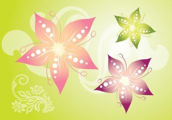 Star Flowers - vector gratuit #146095