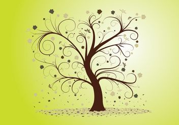 Curly Tree - vector gratuit #146235