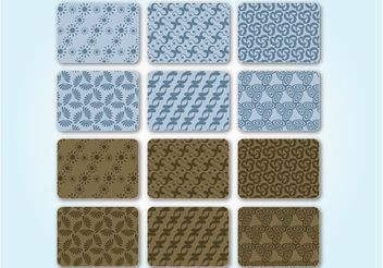 Seamless Pattern Set - Free vector #146285