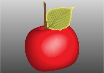 Shiny Apple - vector gratuit #146375