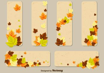 Autumn Leaves Vector Card Templates - Free vector #146545