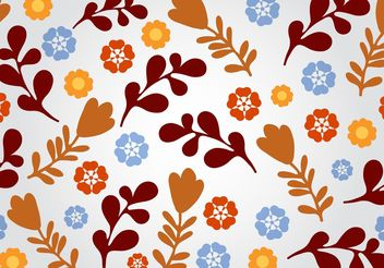 Seamless Floral Vector Background - Free vector #146565