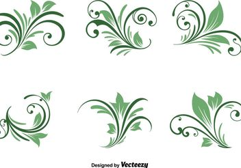 Spring Natural Swirls - vector gratuit #146585