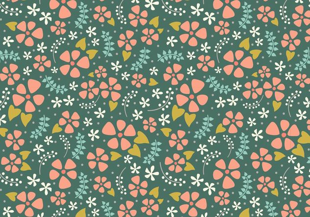Repeat Floral fofo - Free vector #146595