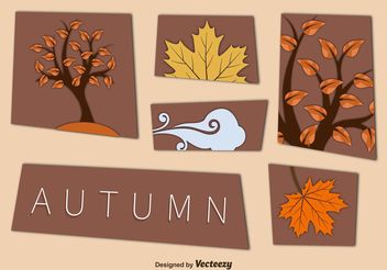 Autumn Cut Out Vector Elements - Free vector #146605