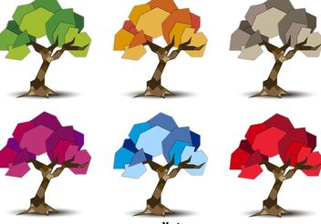 Seasonal Geometric Trees - vector gratuit #146625