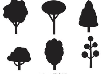 Black Tree Vector Icons - Free vector #146645