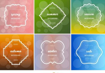 Seasonal Text Frames - vector gratuit #146675