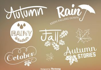 Custom Autumn Type Vector Signs - Free vector #146685