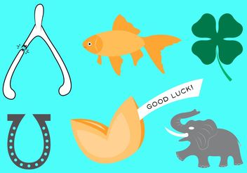 Good Luck Symbol Vectors - vector gratuit #146715
