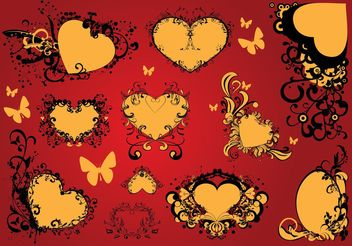 Free Love Heart Vector Art Decoration - Kostenloses vector #146735