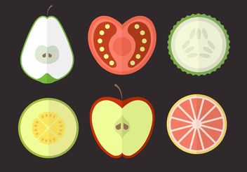 Fruits and Vegetables - Free vector #146785