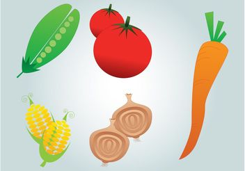 Vegetables Vector - vector gratuit #146815