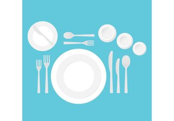 Dinner Table Setting Vector - vector gratuit #146865