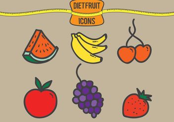 Diet Fruit Vectors - бесплатный vector #146935