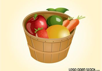 Fruit Basket - vector gratuit #146965