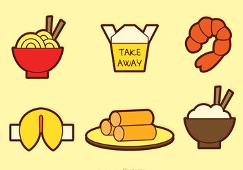 Chinese Food Vector Icons - vector #146975 gratis