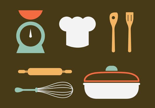 Descargar vector vectores de utensilios de cocina vintage for Utensilios de cocina vintage