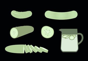 Cucumber Free Vector Set - бесплатный vector #147085