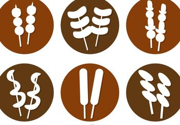 Street Food Icons Vectors - vector gratuit #147095
