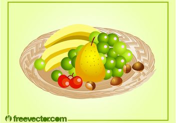 Fruit Platter - vector gratuit #147125