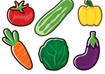 Fresh Vector Vegetable Icons - Free vector #147205
