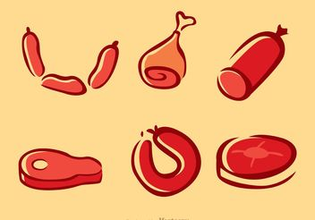 Meats Vectors Pack - Free vector #147235
