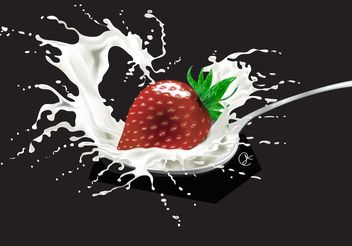 Strawberry Graphics - vector gratuit #147295