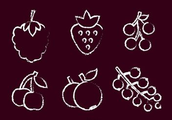 Chalk Drawn Berry Vector - бесплатный vector #147325