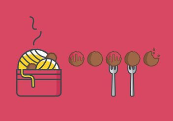 Meatball Vector Set - Free vector #147335