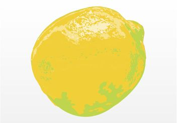 Lemon Illustration - vector #147355 gratis