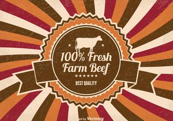 Fresh Farm Beef Illustration - Free vector #147365