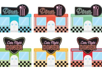 50's Diner Restaurants - vector gratuit #147385