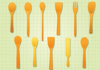 Wooden Spoon - vector gratuit #147415