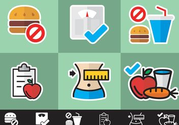 Diet Minimal Icons Vector Free - бесплатный vector #147505