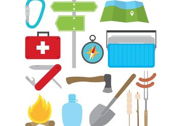 Camping Vector Items - vector gratuit #147605