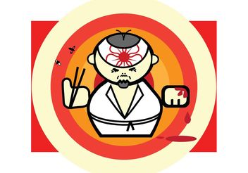 Sushi Master Cartoon - Free vector #147635