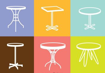 White Table Icons Vector - Free vector #147695