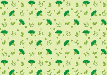Broccoli Pattern Vector - бесплатный vector #147795