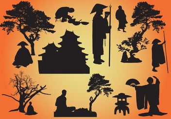 Oriental Vector Graphics - Free vector #147805
