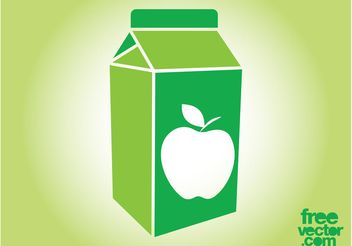 Apple Juice Box - Kostenloses vector #147935