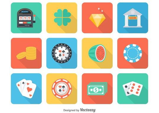 Free Flat Casino Vector Icons - Free vector #147945