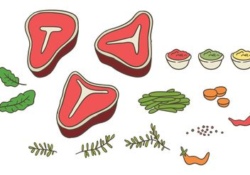 Free t bone steak vector - vector #147995 gratis