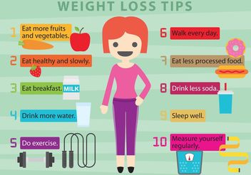 Vector Weight Loss Tips - vector gratuit #148005
