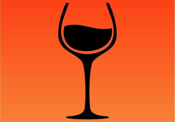 Wine Glass Icon - Free vector #148045