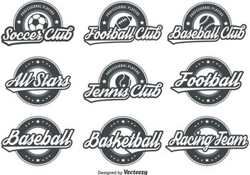 Retro Sport Badges - vector gratuit #148055